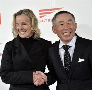 Jil Sander with Uniqlo president Tadashi Yanai