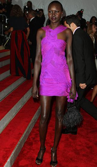 Alek Wek at the Met 2009 Costume Institute Gala
