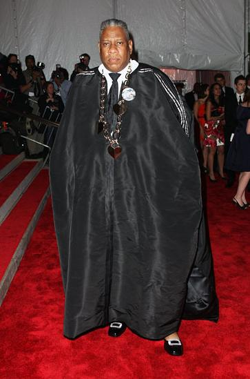 André Leon Talley in a cape by Isable Toledo at the Met 2009 Costume Institue Gala