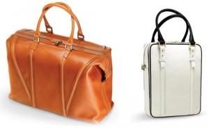 Da Vinci 72 Hr Travel Bag (left) and De Gaulle City Bag (right), both by WANT Les Essentiels de la Vie