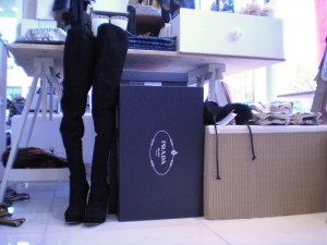 Thigh-high Pradas at 560 King St W
