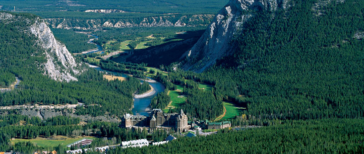 Fairmont Banff Springs Hotel and Bow Valley, Alberta Canada