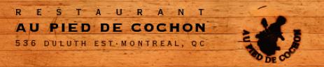 Au Pied de Cochon Montréal