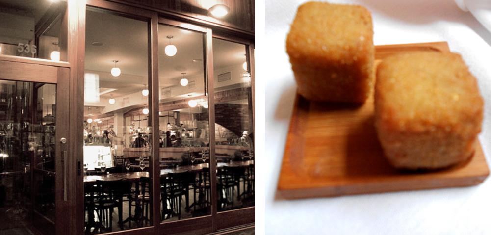 Foie Gras Cromesquis Au Pied de Cochon Restaurant