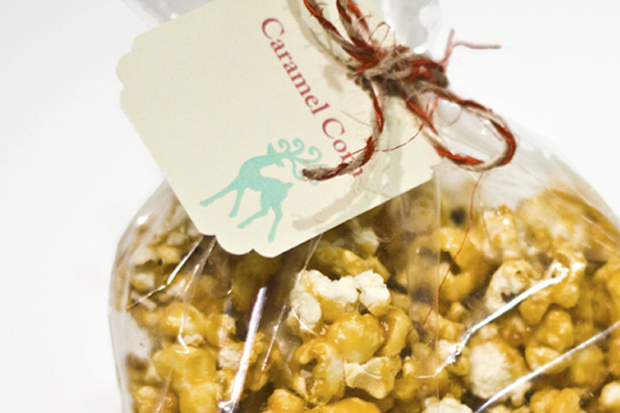 caramel popcorn corn corn syrup butter salt calgary alberta canada christmas holidays gift presents sugar jar