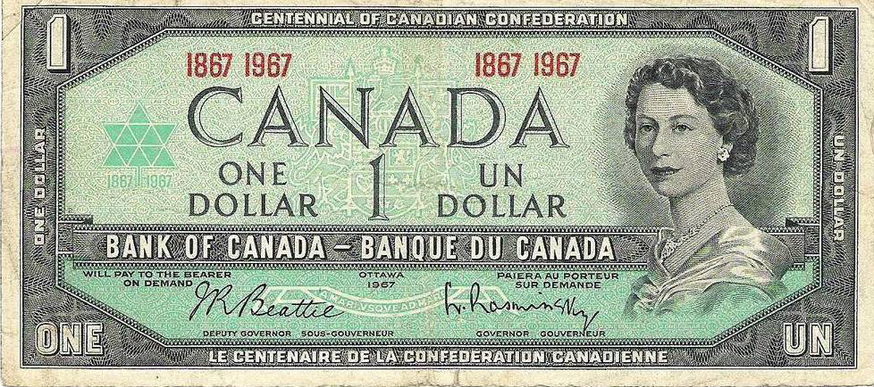 Canadian dollar bill