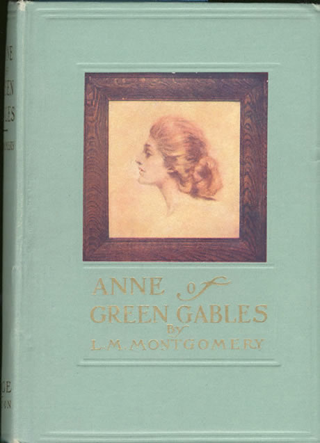 Anne of Green Gables (1908) book cover by Canadian author Lucy Maud Montgomery.
