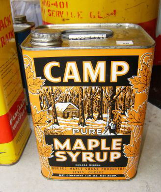 Camp maple syrup from Québec, Canada