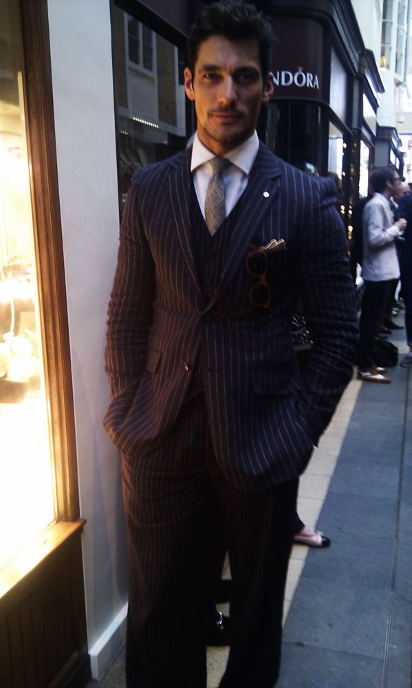 David Gandy at Savile Row Evening at Burlington Arcade