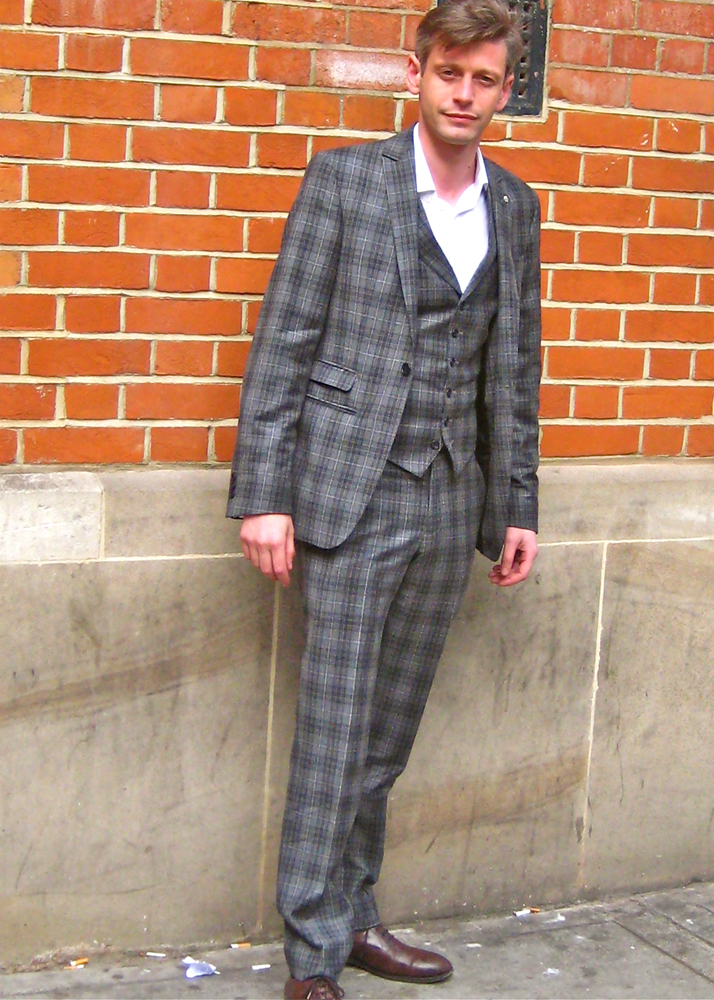 Jenico Preston Head of Sponsorship for the British Fashion Council wearing suit and shoes by Mr.Start