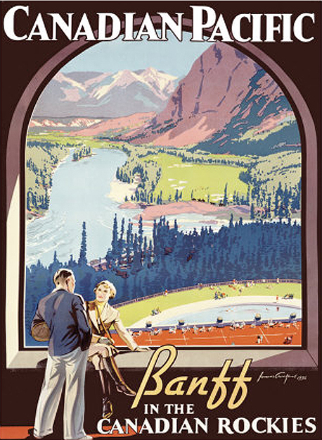 A canadian pacific railway banff Alberta vintage poster. Posted for Canada day 2012